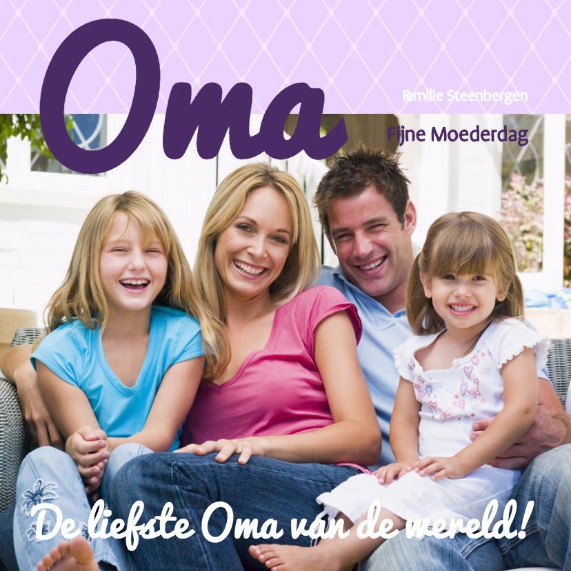 Moederdag kaarten - Foto 4kant Oma - BK