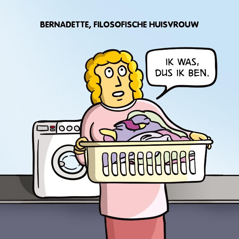 Moederdag kaarten - Grappige moederdagkaart Filosofische huisvrouw