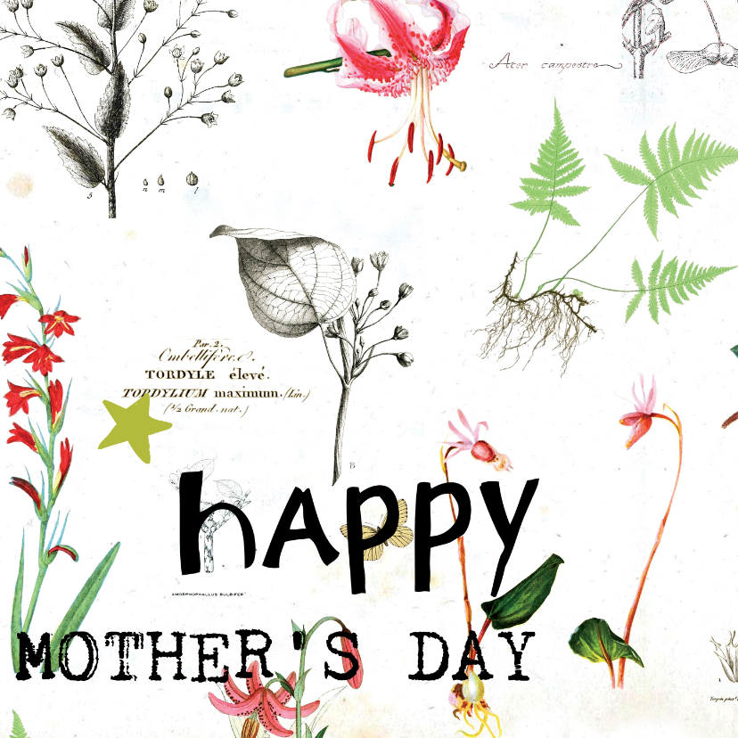 Moederdag kaarten - Happy mother's day