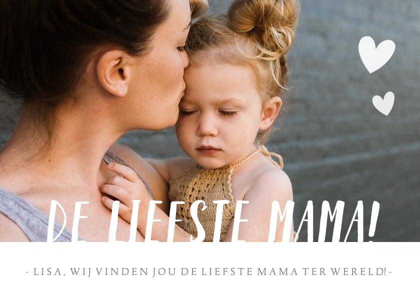 Moederdag kaarten - Hippe moederdagkaart met grote eigen foto en liefste mama