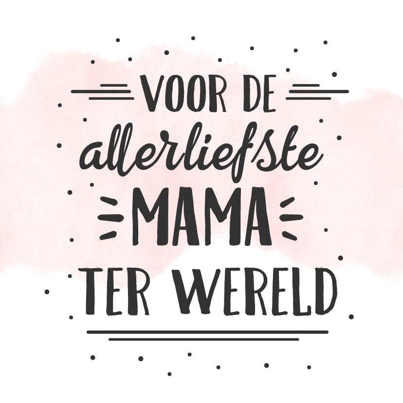 Moederdag kaarten - Hipper moederdag handlettering kaart - liefste mama