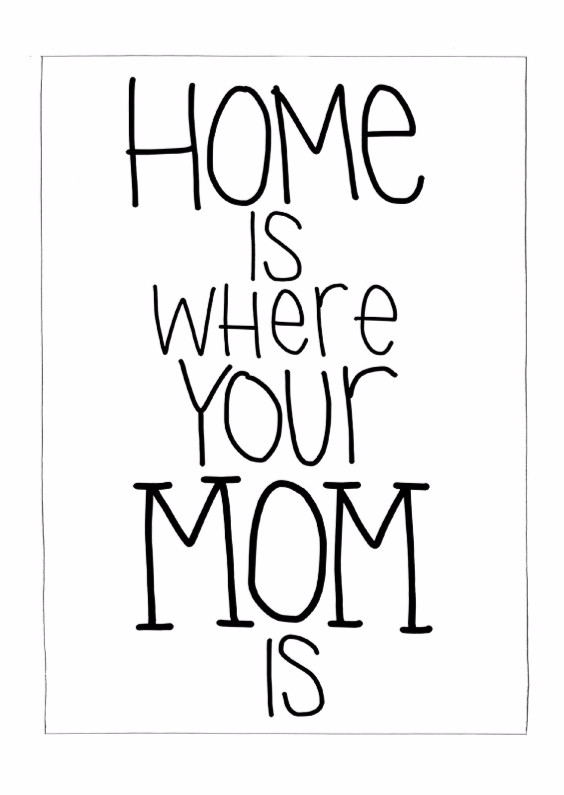 Moederdag kaarten - Home is where mom is