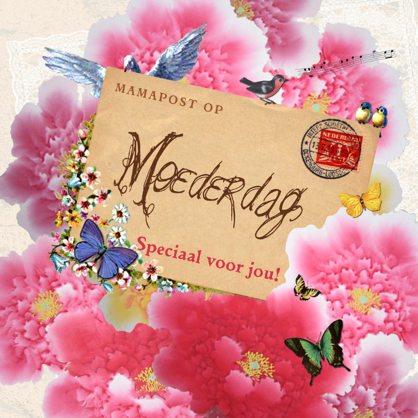 Moederdag kaarten - KendieKaart Moederdag Post vk