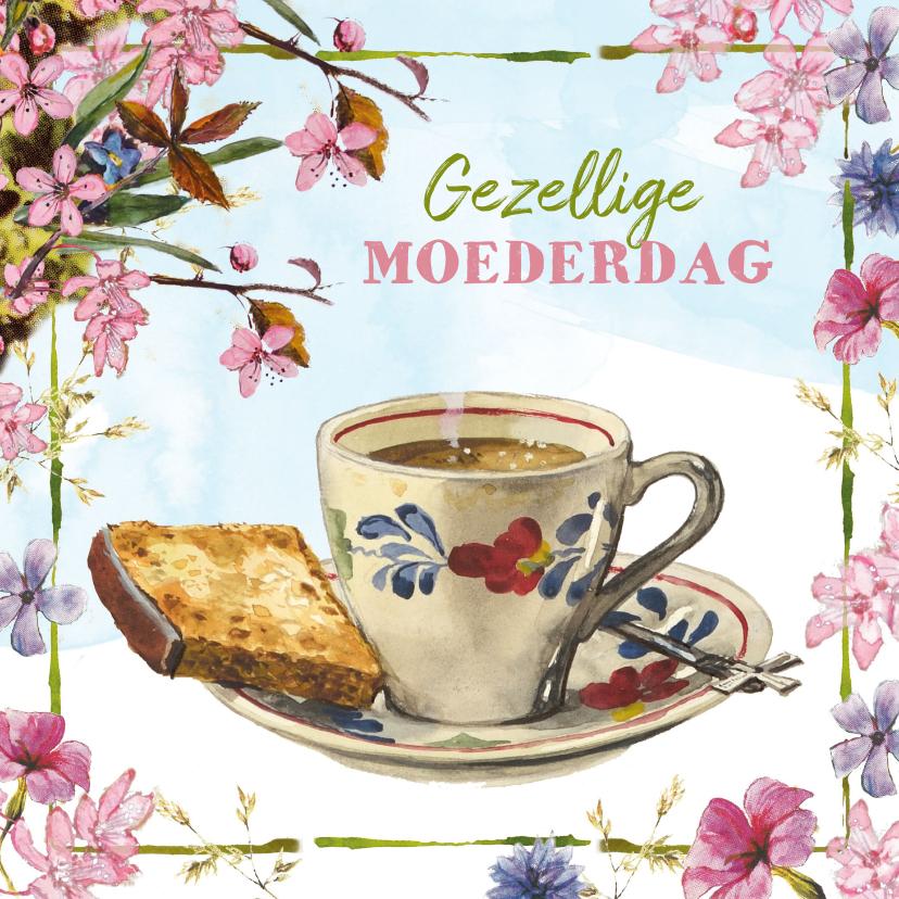 Moederdag kaarten - Kopje koffie voor de allerliefste moeder