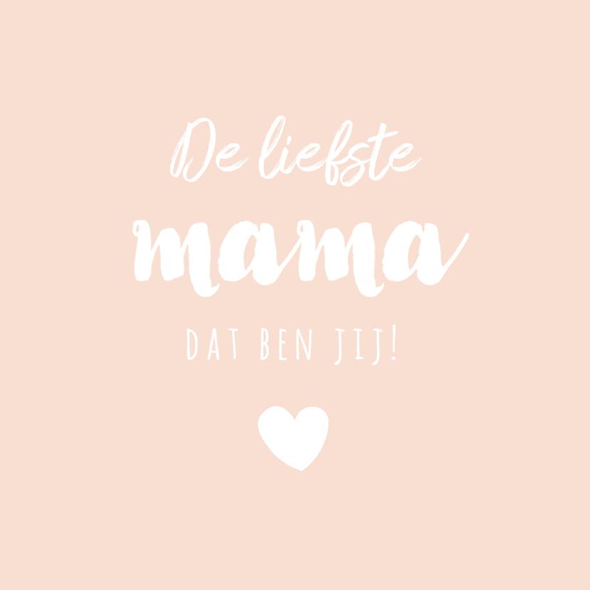 Moederdag kaarten - Lief zalmroze kaartje voor moederdag