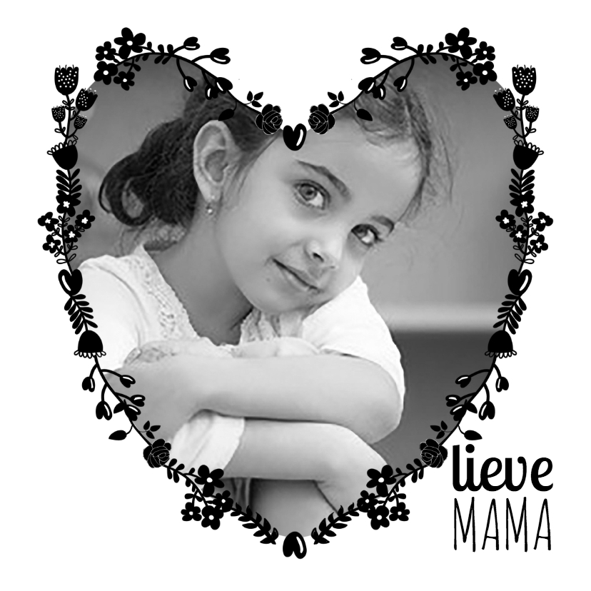 Moederdag kaarten - Lieve mama met foto-isf