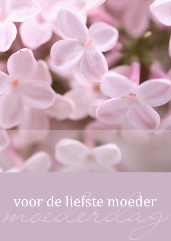 Moederdag kaarten - Lila moederdagkaart met bloemetjes