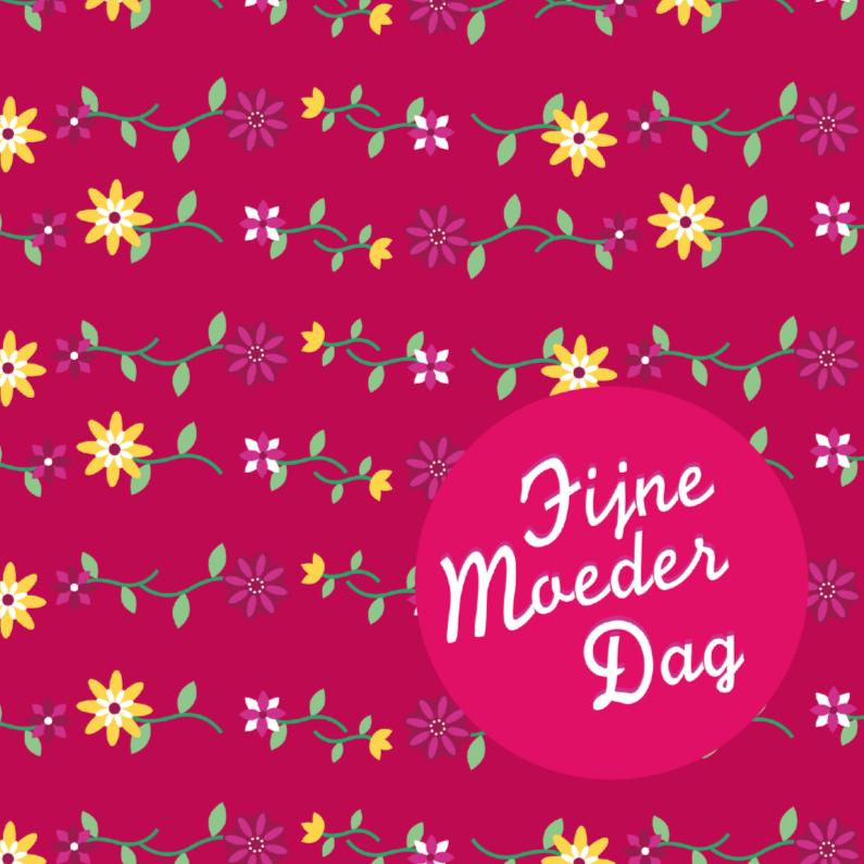 Moederdag kaarten - Moederdag bloem 5