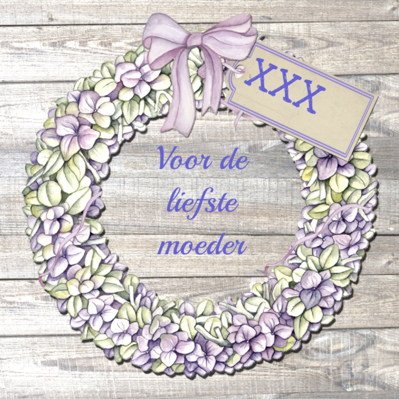 Moederdag kaarten - moederdag krans