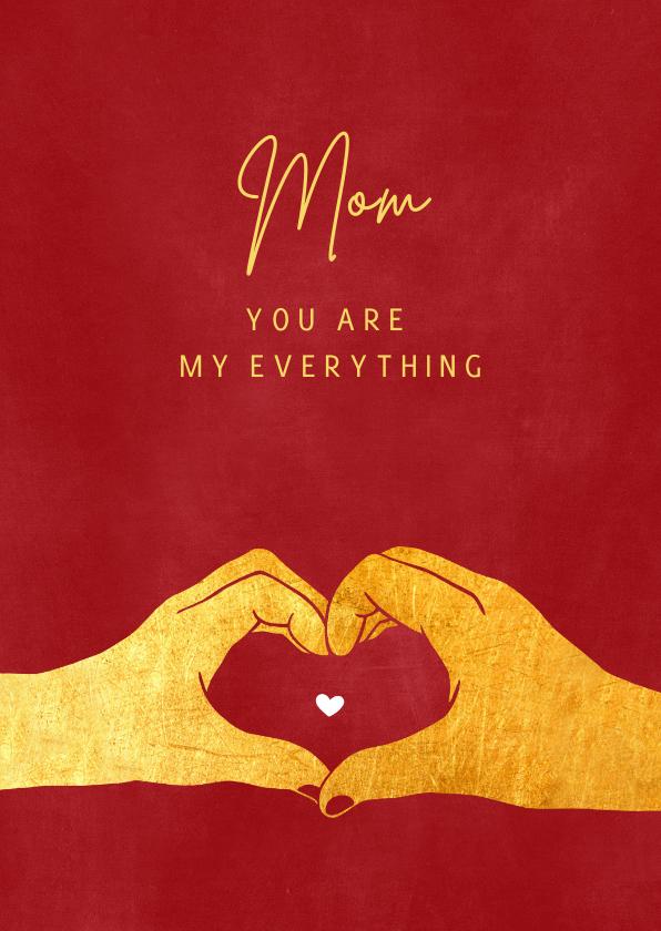 Moederdag kaarten - Moederdag liefde handen hart