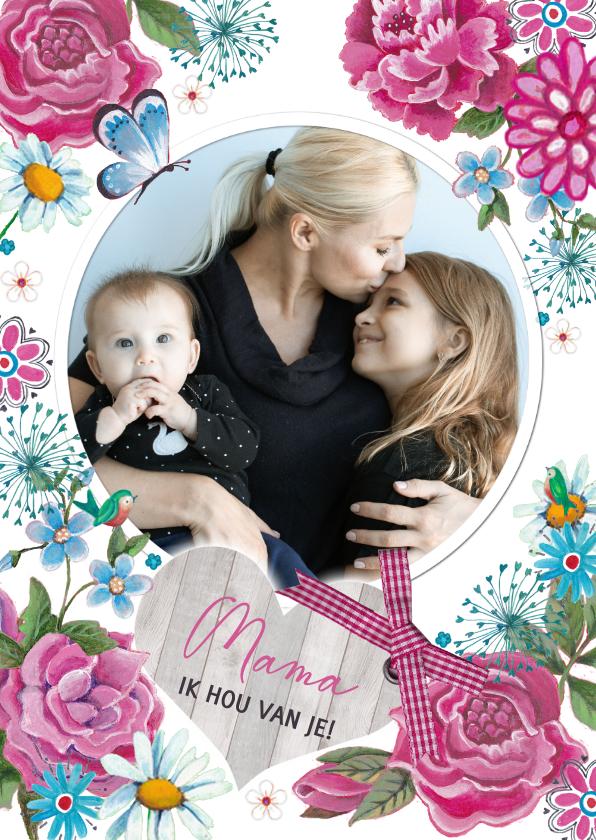Moederdag kaarten - Moederdag Mama Ik hou van je
