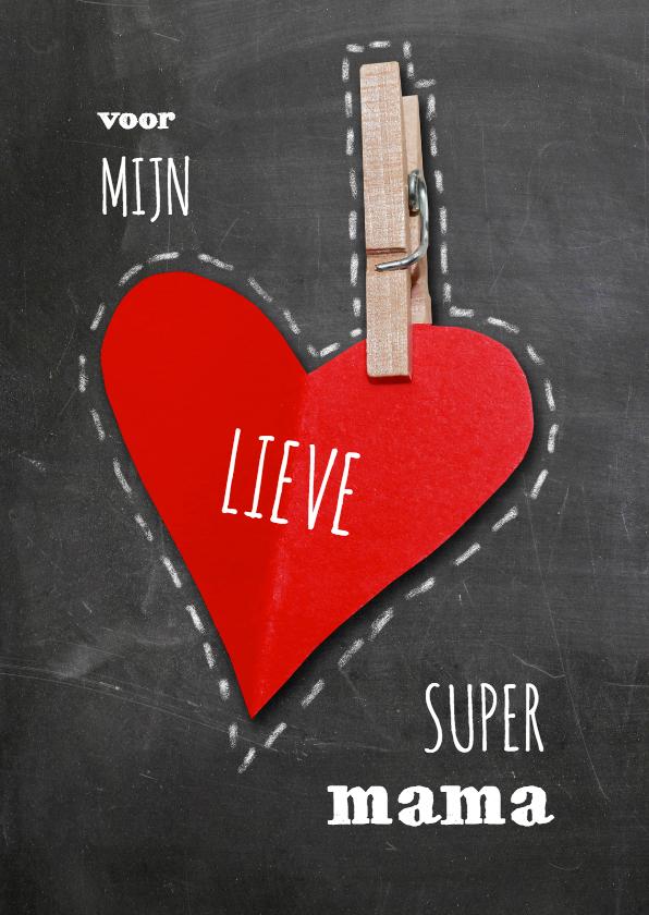 Moederdag kaarten - Moederdag rood hart - SG