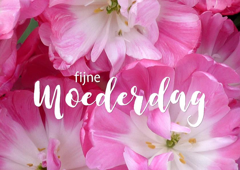 Moederdag kaarten - Moederdag roze tulpen