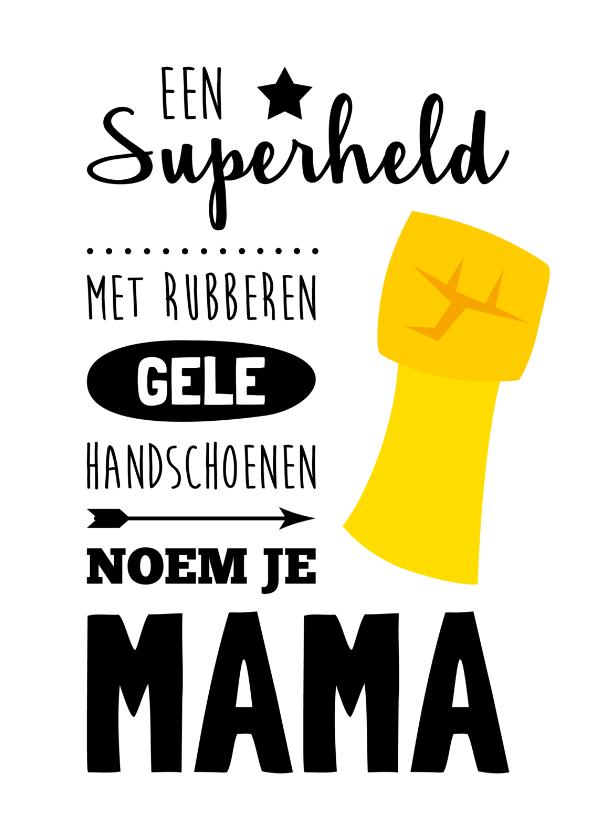 Moederdag kaarten - Moederdag Superheld