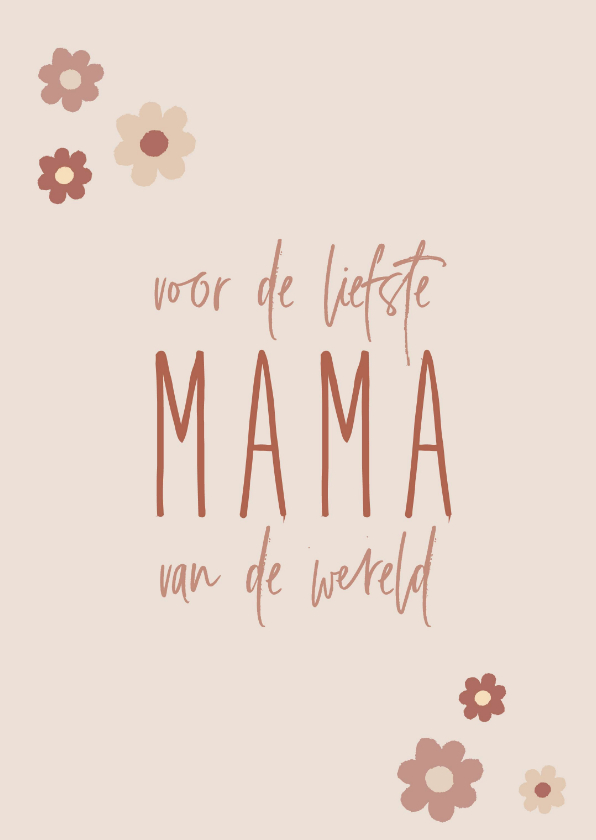 Moederdag kaarten - Moederdag, Voor de liefste mama van de hele wereld