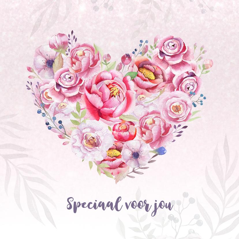 Moederdag kaarten - Moederdaghart met rozen