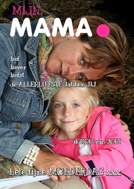Moederdag kaarten - Moederdagkaart Cover magazine 3