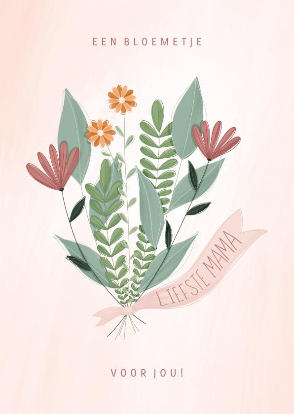 Moederdag kaarten - Moederdagkaart een bloemetje voor jou