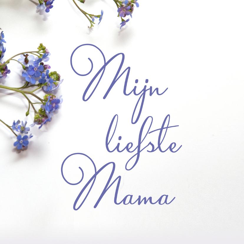 Moederdag kaarten - Moederdagkaart paarse bloemen