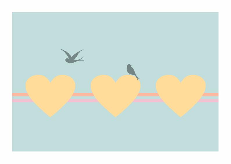 Moederdag kaarten - Moederdagkaart Vogeltjes