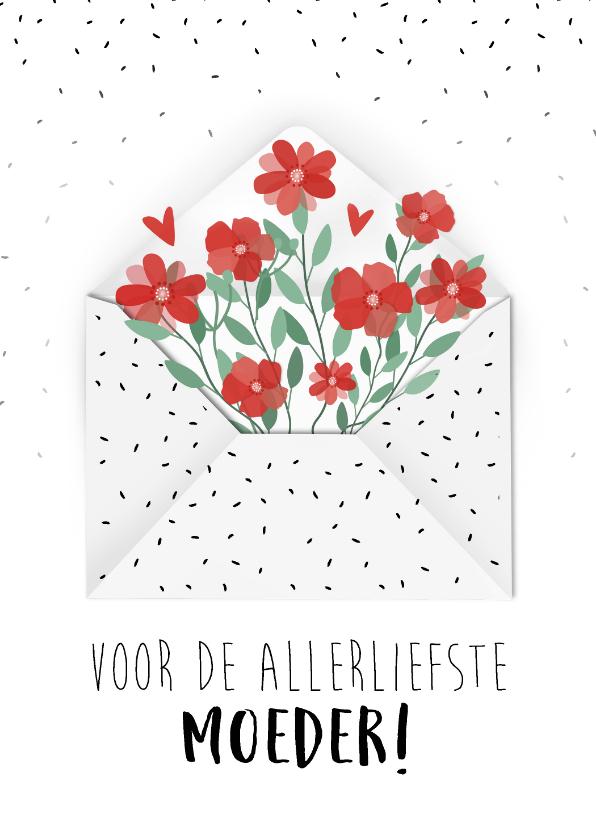 Moederdag kaarten - Moederdagkaart voor de allerliefste moeder!