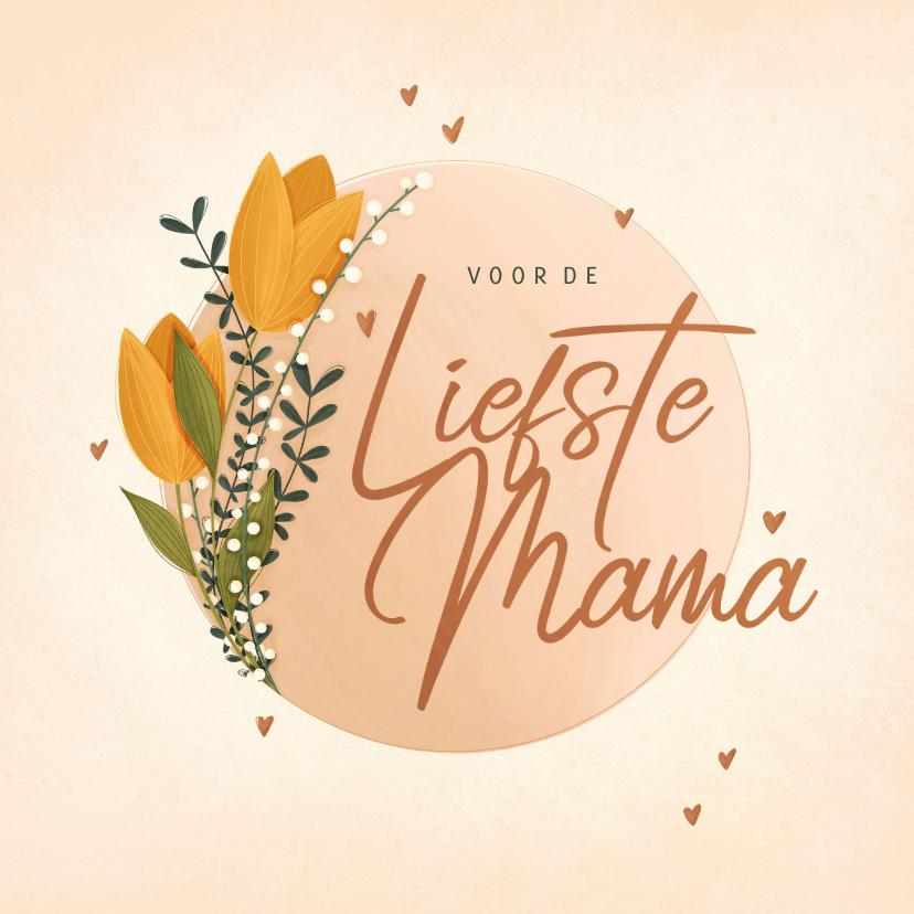 Moederdag kaarten - Moederdagkaart voor de liefste mama met tulpen