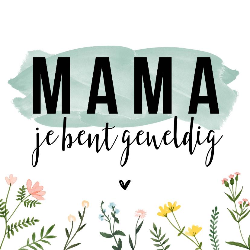 Moederdag kaarten - Moederdagkaarten   Mama je bent geweldig