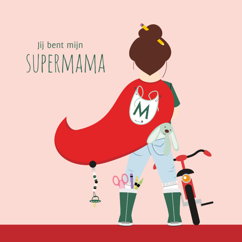 Moederdag kaarten - Moederdagkaartje voor de allerliefste supermama