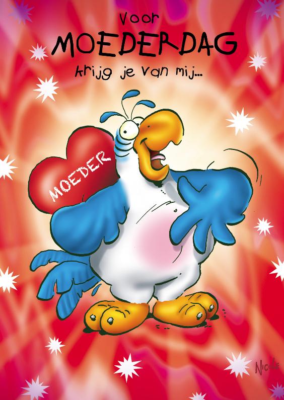 Moederdag kaarten - rocco moederdag 3 hart op rug