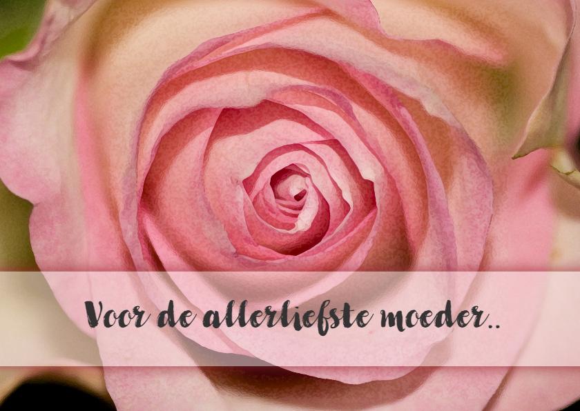 Moederdag kaarten - roos eigen tekst