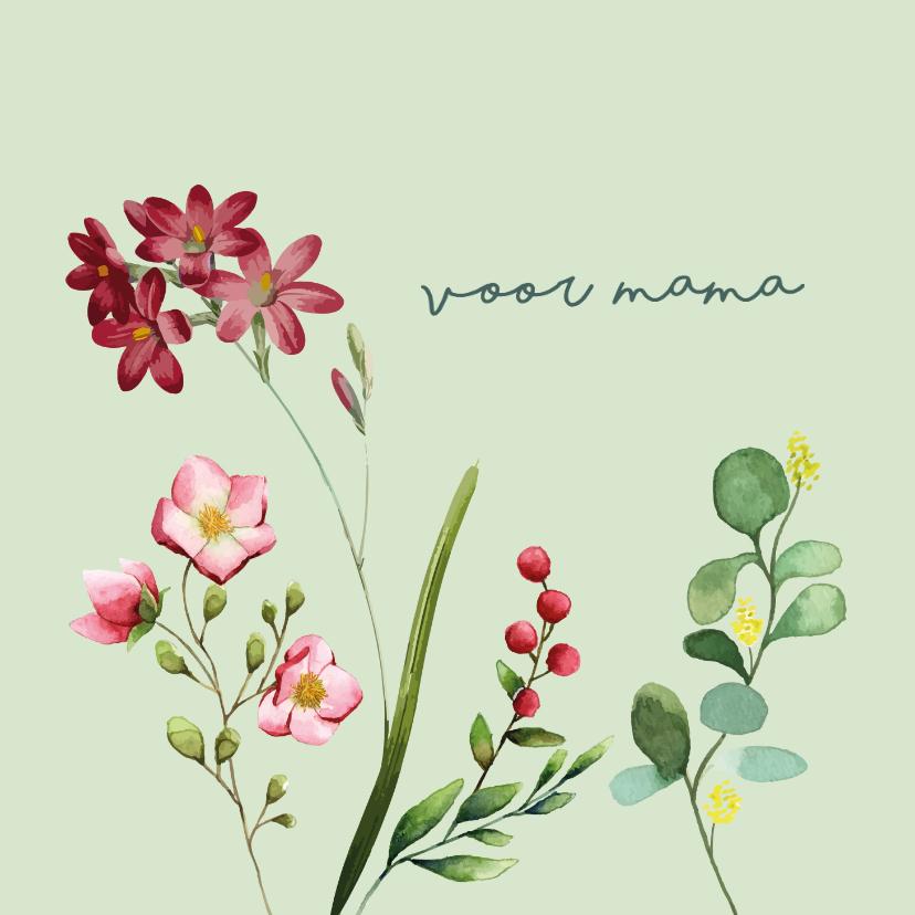 Moederdag kaarten - Voor mama - bloemen - moederdag kaart