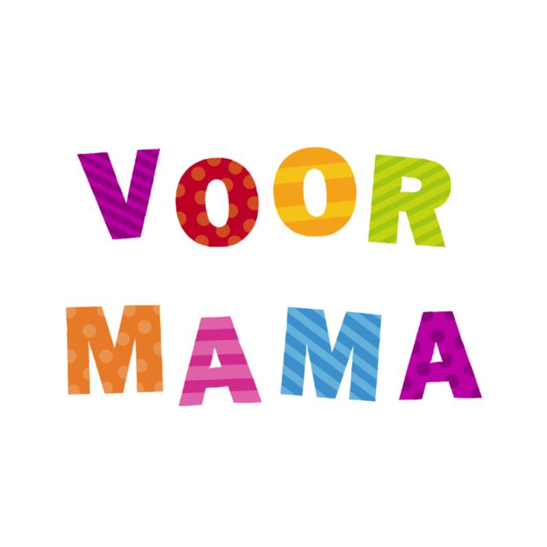 Moederdag kaarten - Voor Mama Vrolijke letters