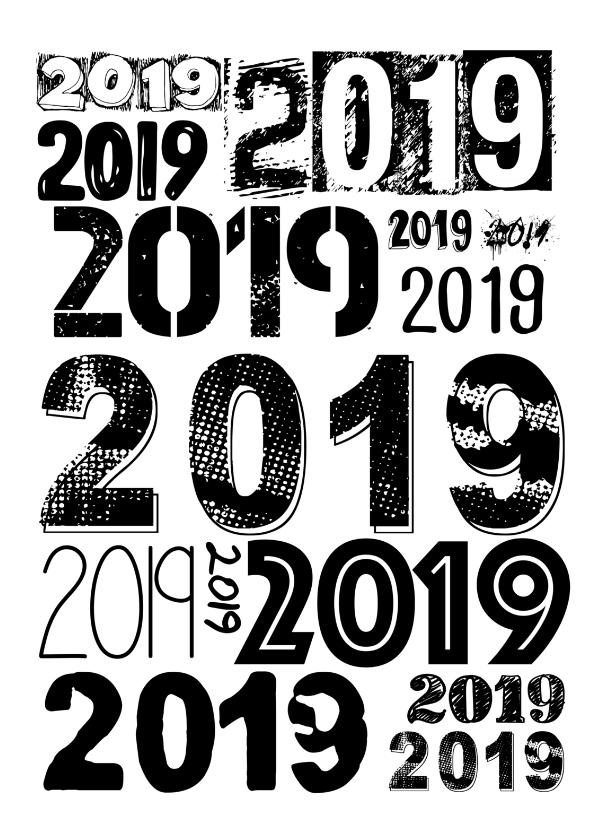 Nieuwjaarskaarten - 2019 allover