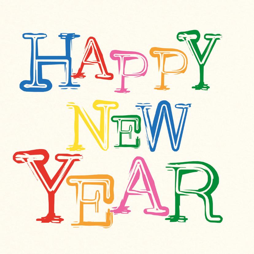 Nieuwjaarskaarten - A Happy New Year -BF