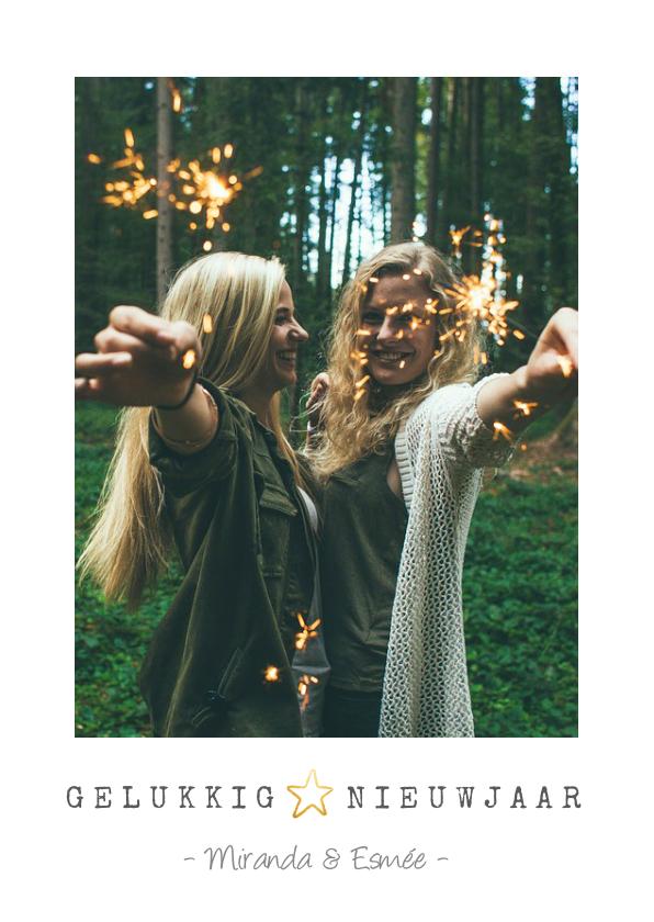 Nieuwjaarskaarten - Eenvoudige nieuwjaarskaart met ruimte voor een eigen foto