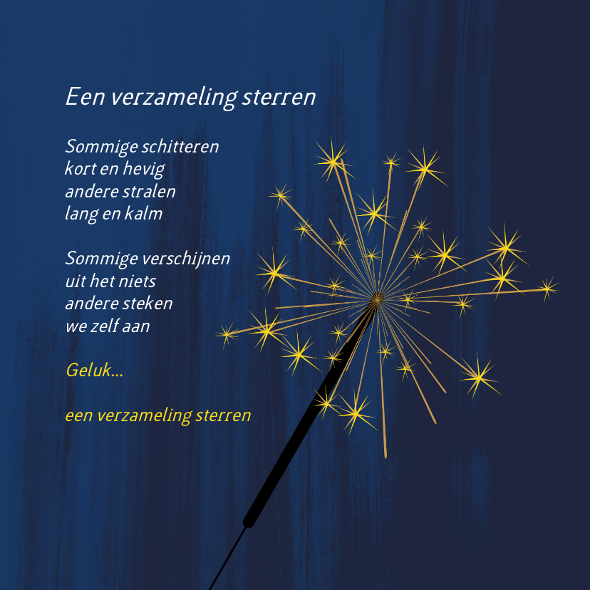 Nieuwjaarskaarten - Geluk een verzameling sterren 2