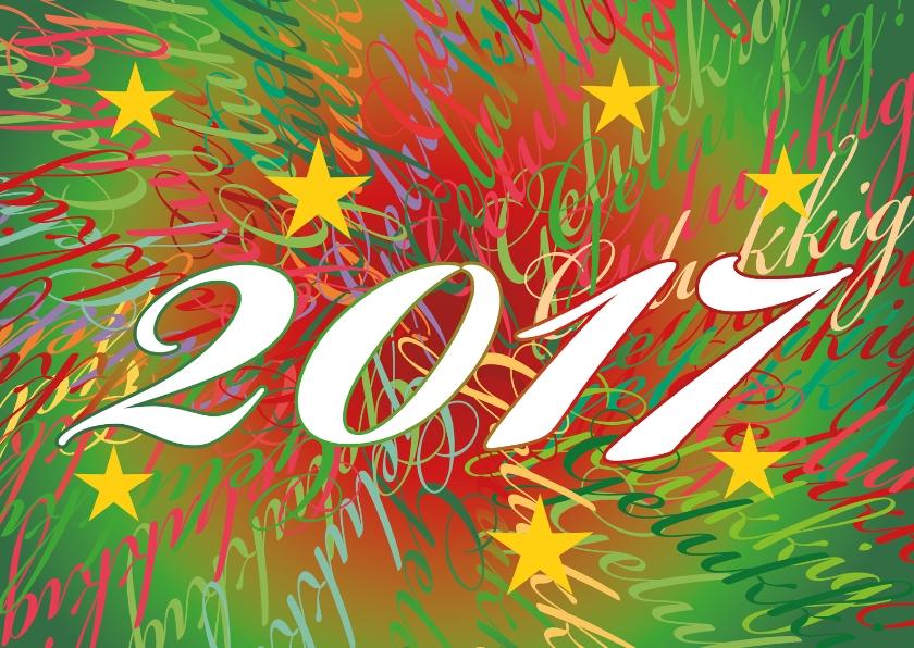 Nieuwjaarskaarten - Gelukkig 2017 tekst AS