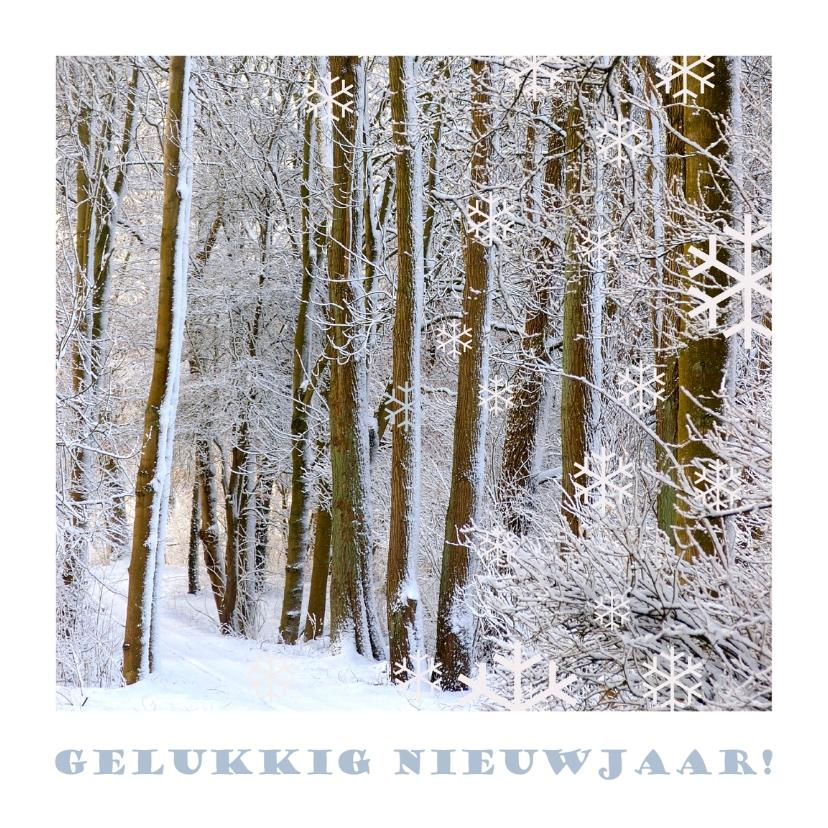 Nieuwjaarskaarten - Gelukkig nieuwjaar ijzelbomen