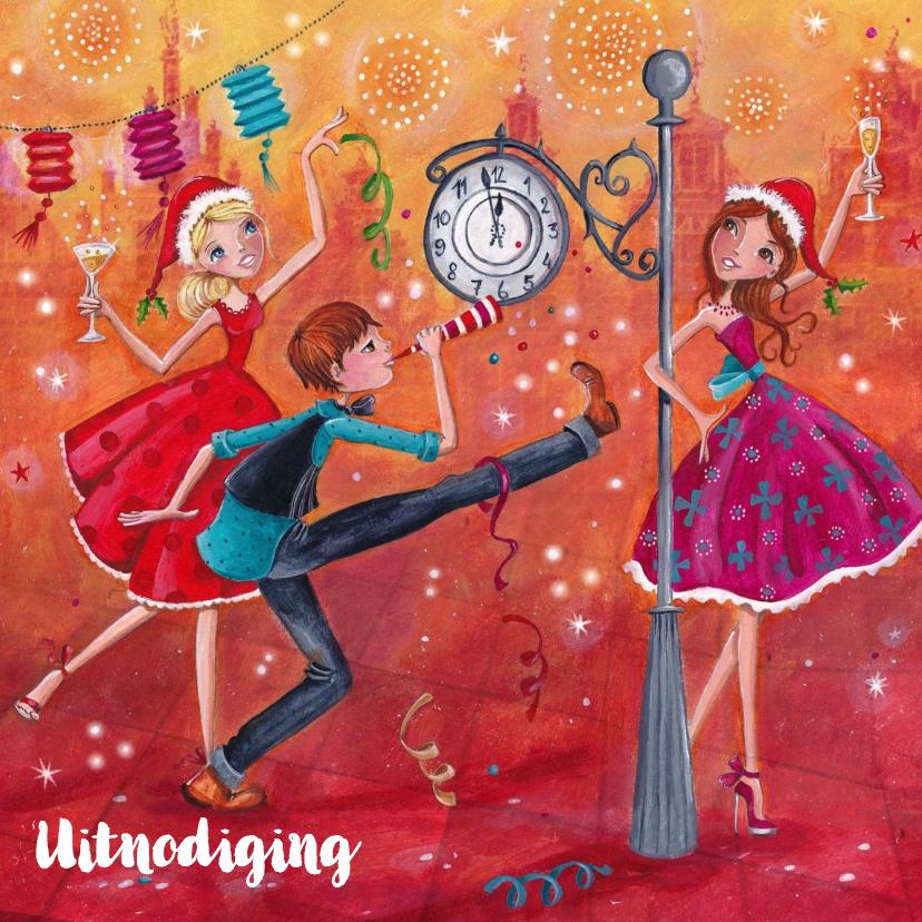 Nieuwjaarskaarten - Gelukkig Nieuwjaar Illustratie