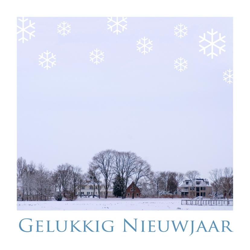 Nieuwjaarskaarten - Gelukkig Nieuwjaar winters landschap