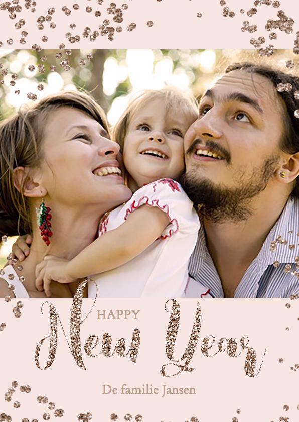 Nieuwjaarskaarten - Glitter nieuwjaarskaart