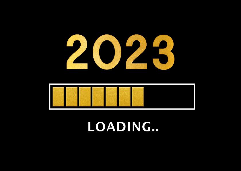 Nieuwjaarskaarten - Grappige zakelijke nieuwjaarskaart 2022 loading laadbalk