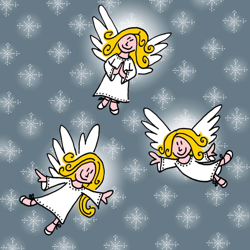 Nieuwjaarskaarten - happy angels
