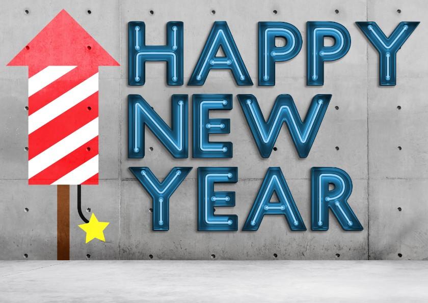 Nieuwjaarskaarten - Happy Neon Year!