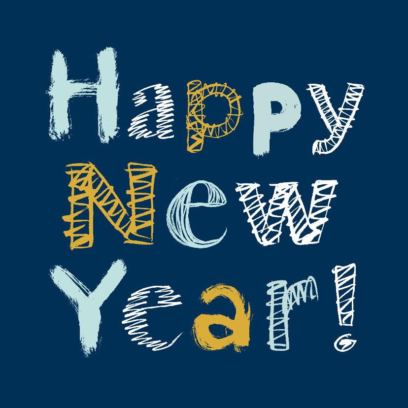 Nieuwjaarskaarten - Happy New Year letters