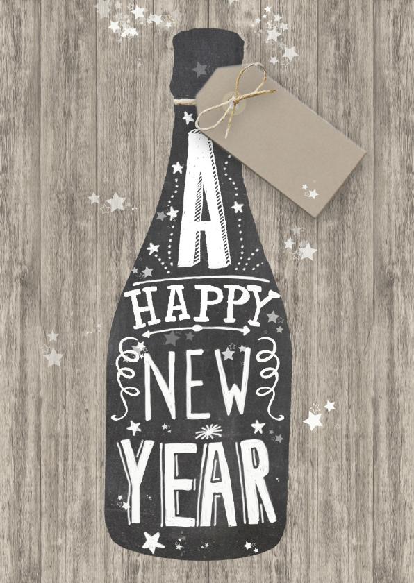 Nieuwjaarskaarten - Happy New Year schoolbord