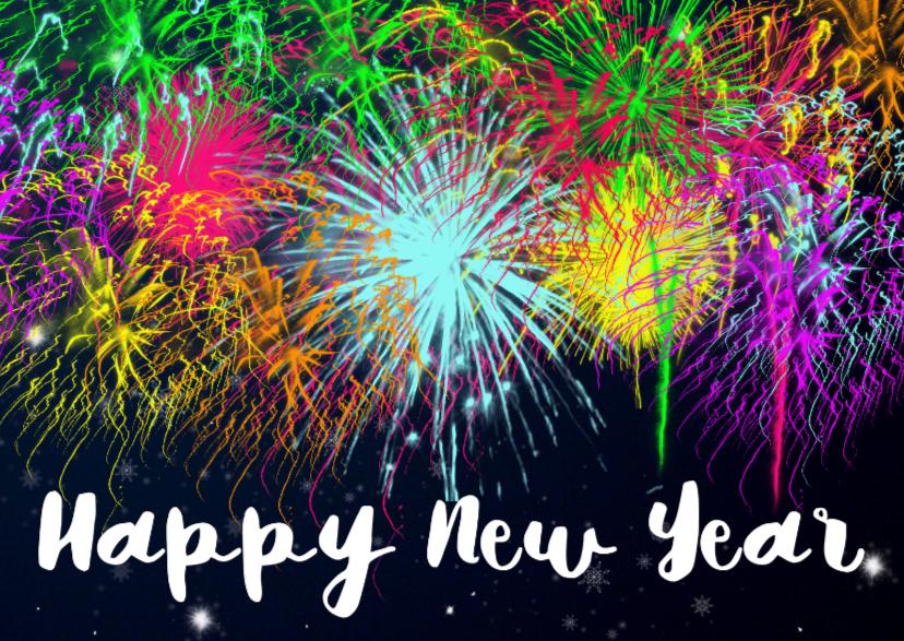 Happy New Year vuurwerk - DH 1