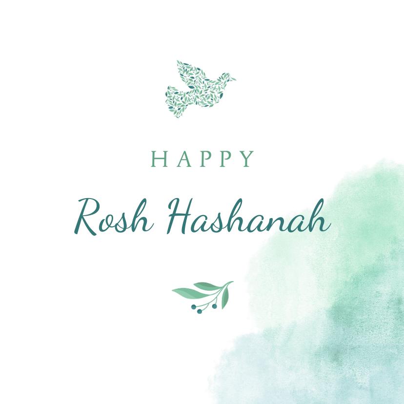Nieuwjaarskaarten - Happy Rosh Hashanah Joodse jaarwisseling