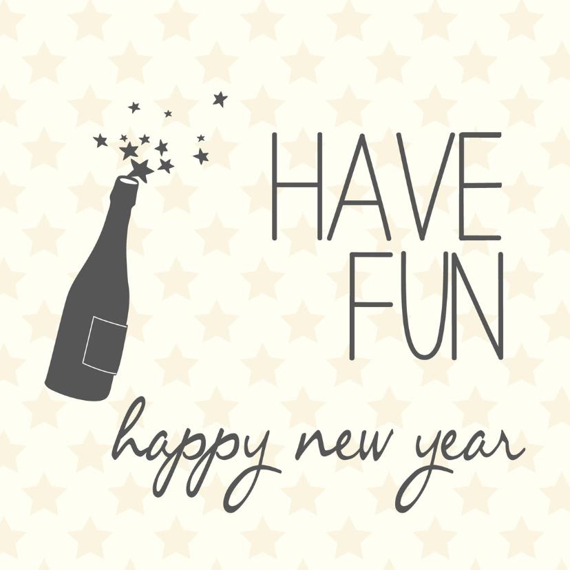 Nieuwjaarskaarten - Have fun happy new year -BF