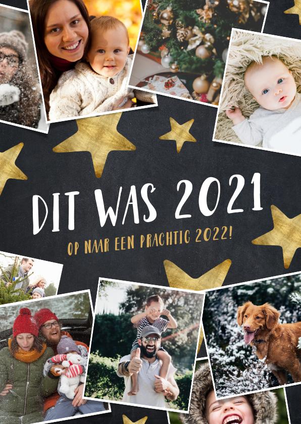Nieuwjaarskaarten - Hippe fotocollage nieuwjaarskaart hoogtepunten 2021